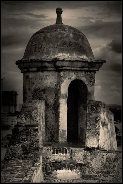 Guard Tower - Castillo San Felipe de Barajas - Cartagena de Indias, Colombia 10-2-2015.