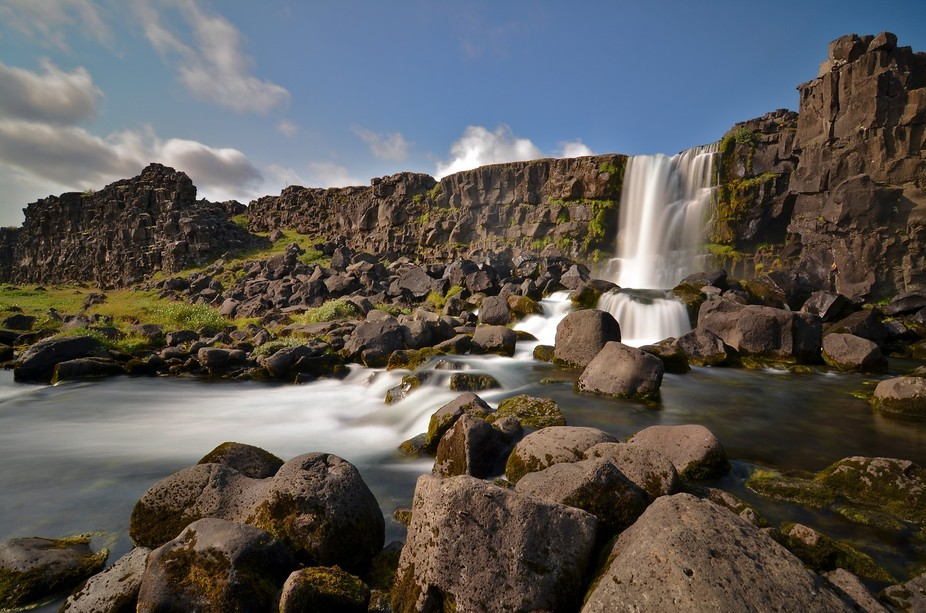 This was one of the many beautiful waterfalls around every turn in Iceland!