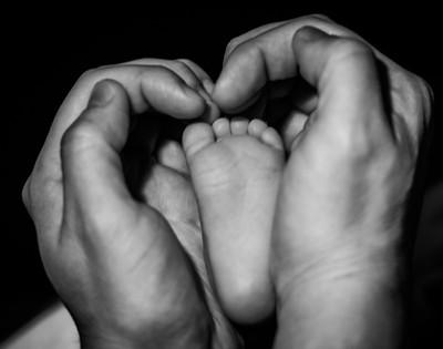Dad's Protective Hands