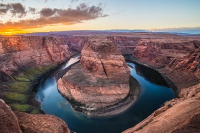 Horseshoe Bend at Golden Hour