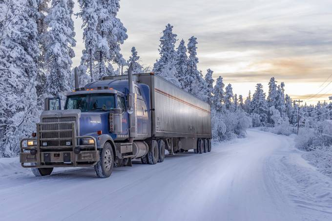 Western Star in the snow by StarPhotographer - Trucks Photo Contest