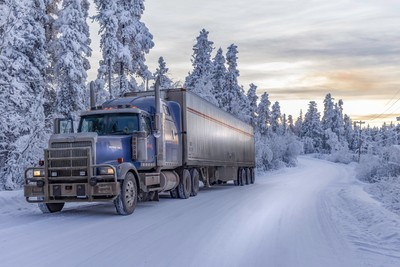 Western Star in the snow