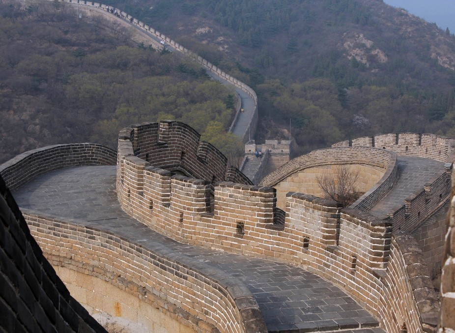 This section of The Great Wall is called Badaling, just about 40 miles north of Beijing.