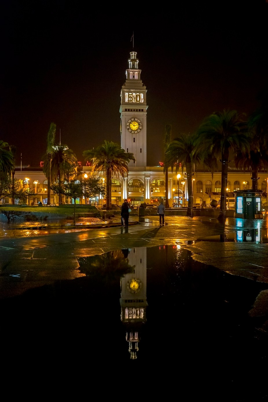 Ferry Building at Night by Hollingsworth - Night Wonders Photo Contest
