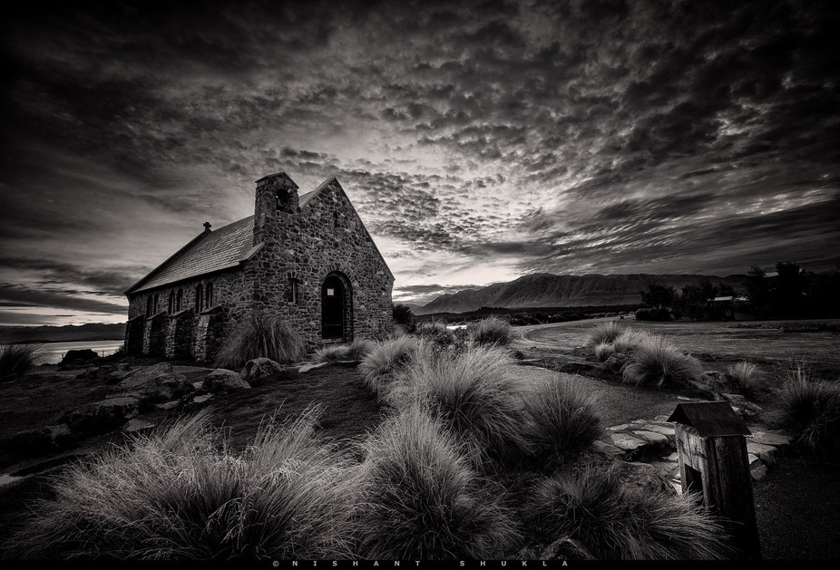 The church of good shepherd, lake Tekapo, New Zealand.