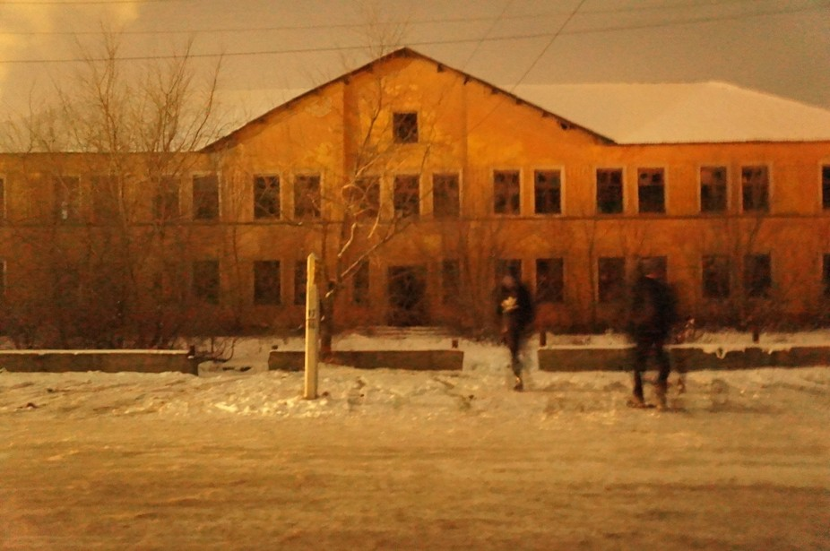 This was an abandoned school we went for a look around in in Tsu, Kazakhstan.