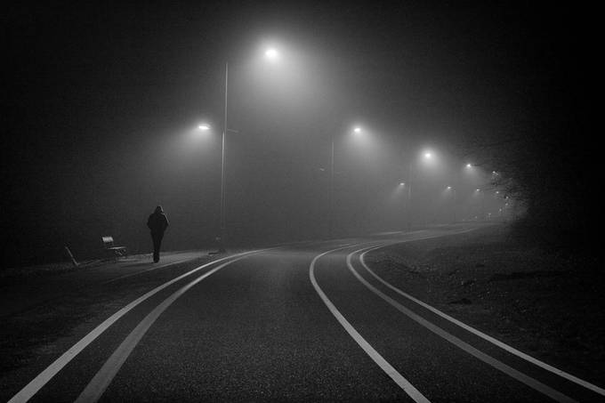Through the fog by gkojadinovic - Night Wonders Photo Contest