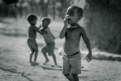 Young Himba boys playing...