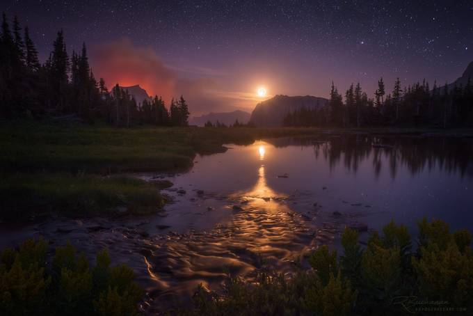 Fire Watch by ryanbuchanan - Color In The Night Photo Contest