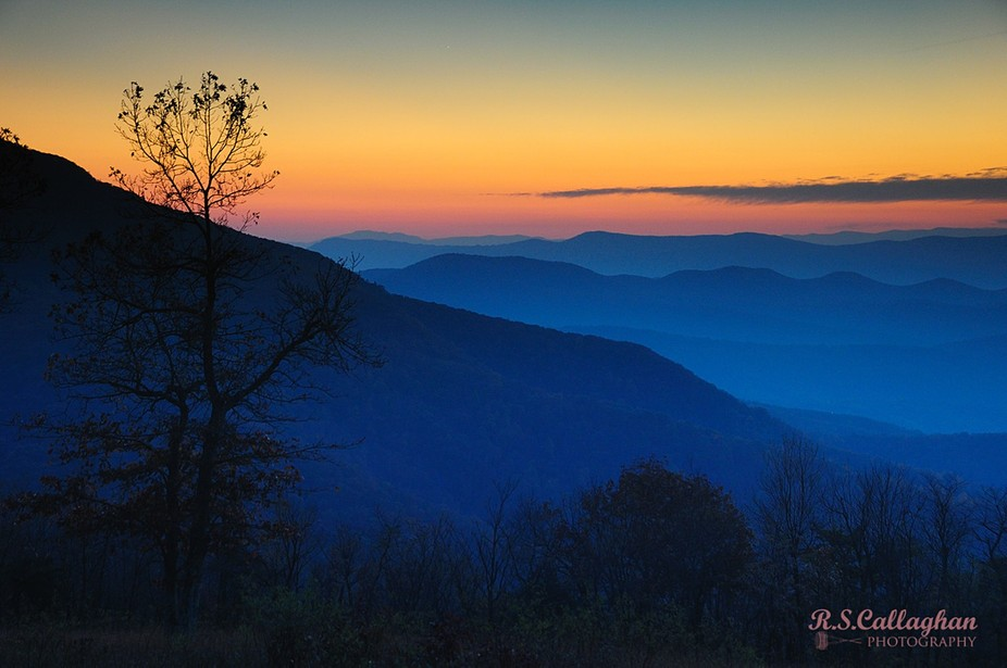 Taken from a pull-off on the Blue Ridge Parkway in Shenandoah National Park.