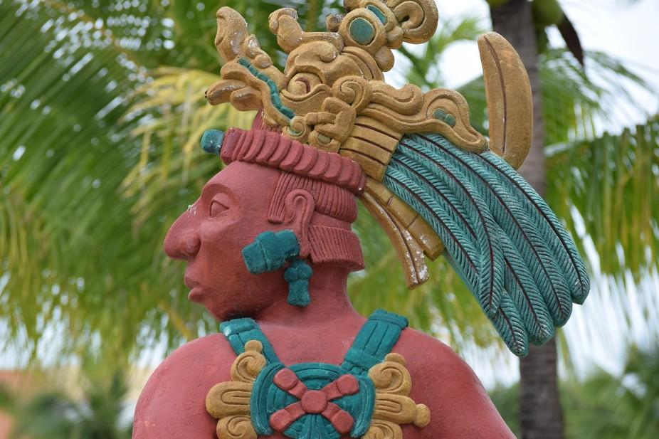 Joven Jaguar   Mayan statue in Punto Aventuras Barcelo Maya Riviera in December 2015   EM