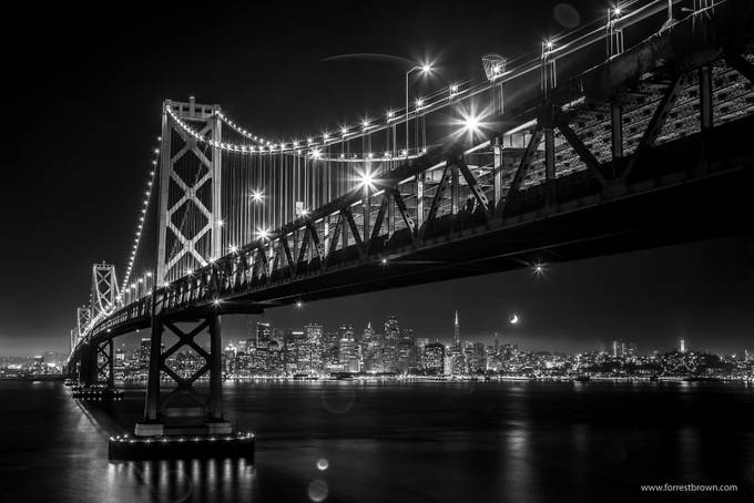 Bay Bridge by Forrest_Brown - Black And White Wow Factor Photo Contest