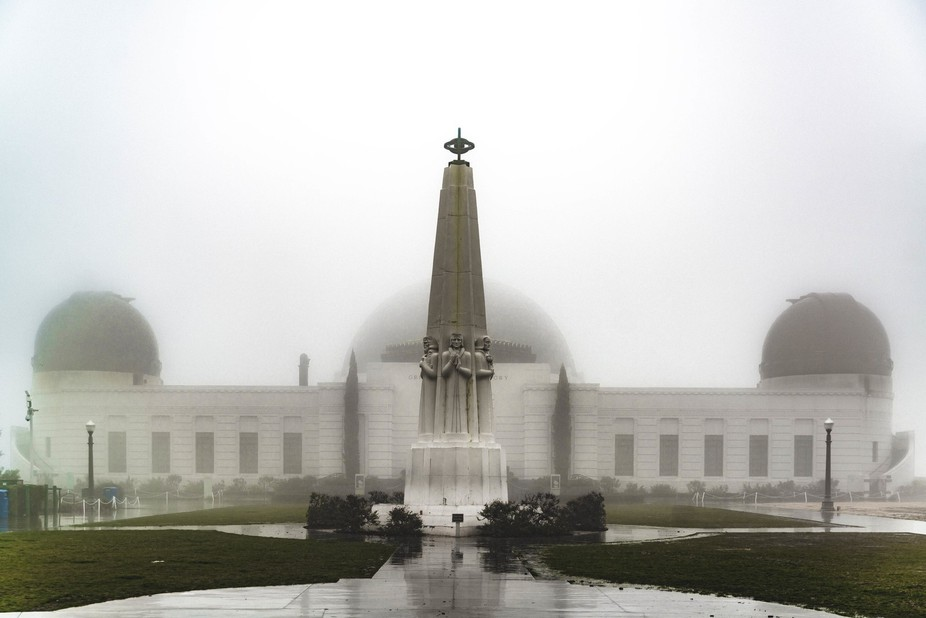 The Observatory in the rain today - January 5th, 2015