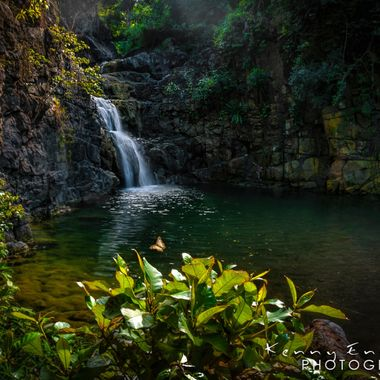 Most likely the only waterfall in the pueblo of Rincon Puerto Rico but I'm still looking! Took this shot hand held, I took many angles but this one spot had the magic in it!   ISO 100, F/22, 1/5sec
