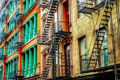 Harlem fire escapes