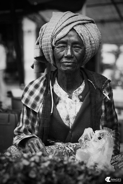 Woman at market - Myanmar