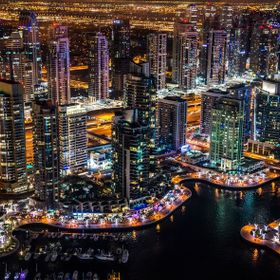 A shot taken from the Observatory of the Dubai Marina