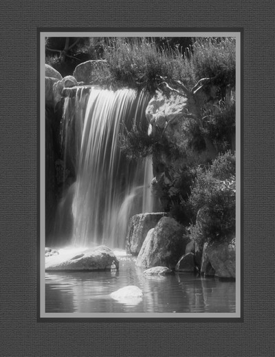 The Falls at the Japanese American Garden  in Phoenix