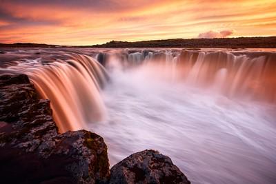 Selfoss sunset