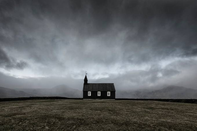 Black Church of Budir by madspeteriversen - Show Minimalism Photo Contest
