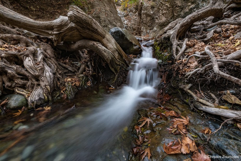 Krios River springs in Mount Olympus (Chionistra) and flows south, crossing Platres village to th...