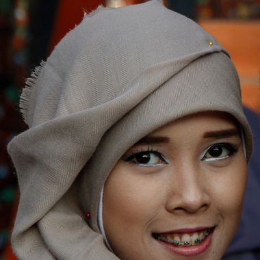 cropped photo of young woman in Jakarta