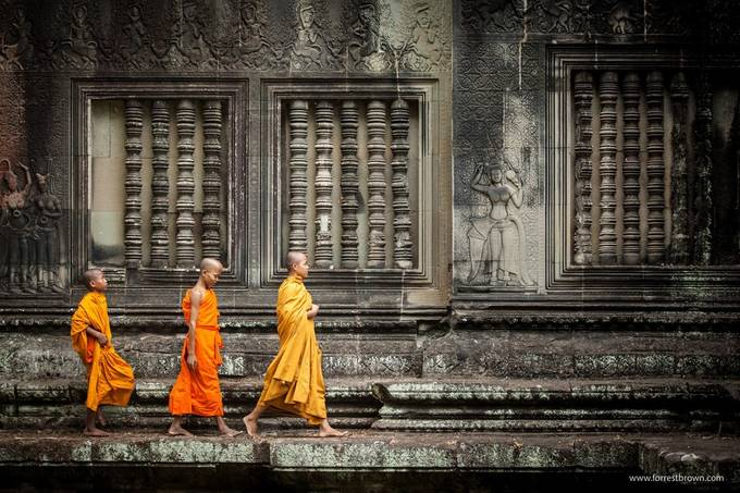 Little Monks by Forrest_Brown - Cultures of the World Photo Contest