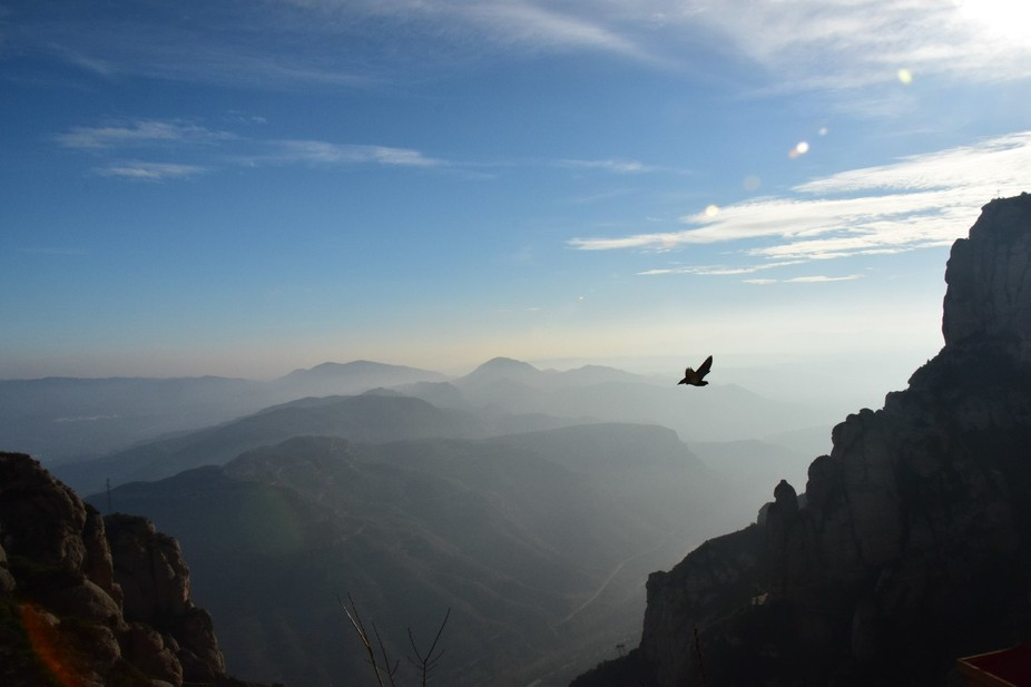 We were the first ones to arrive in Montserrat that morning, and the fog just made it so magical!