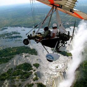 Microlight flight over the Victoria Falls Zambia
