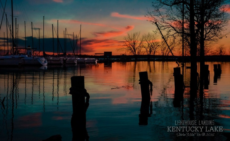 Last nights' sunset. Kentucky Lake was way up so I couldn't make it down by the...