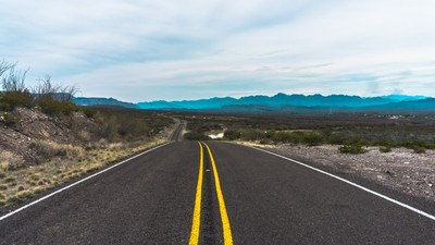 The road through Big Bend National Park