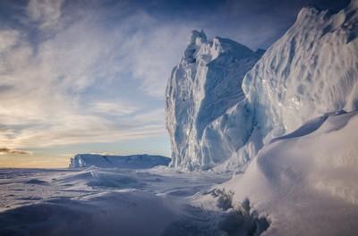 Icebergs at Cape Evans, Antarctica