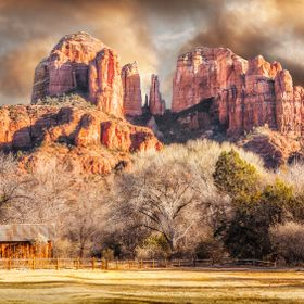 The hubby and I waited for the sun to set here in Sedona, Arizona.  This is one of our favorite places to vacation.  A must location to visit whe...