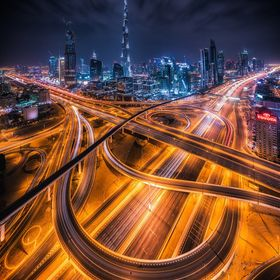 super futuristic image of Dubai