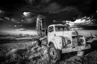 Old Blower Truck