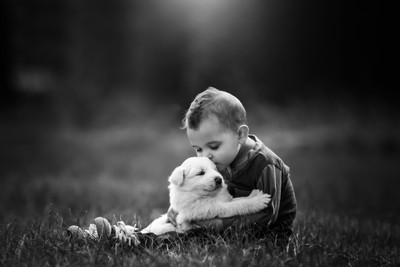 A boy and his pup