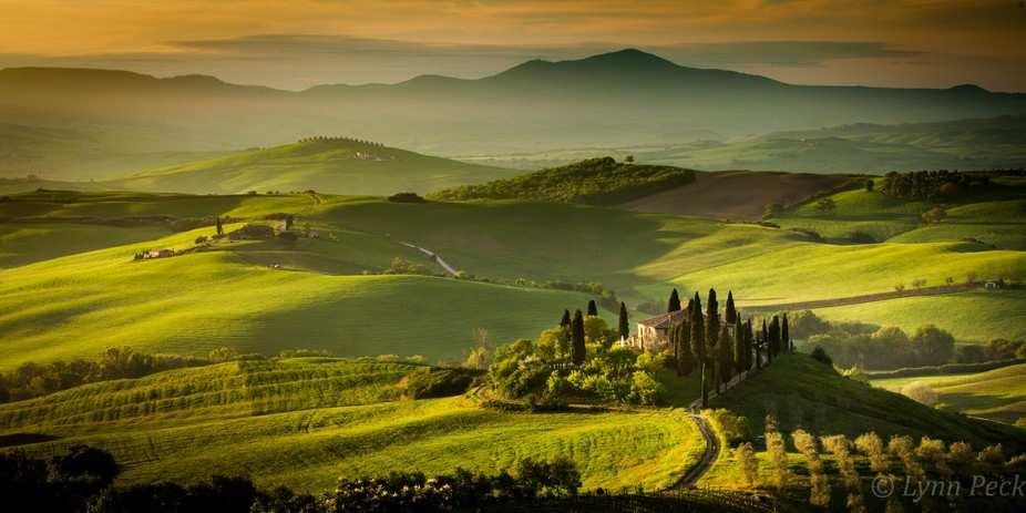 Taken just as the sun was rising over the Val D'Orcia, Tuscany in May