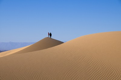 Wind and sand dunes