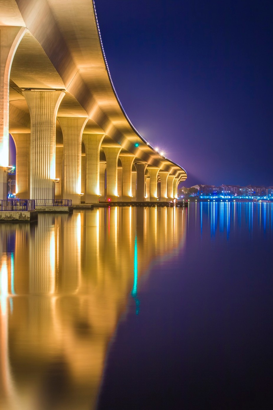 Roosevelt Bridge Reflection Portrait by jpfotos - Playing With Light Photo Contest