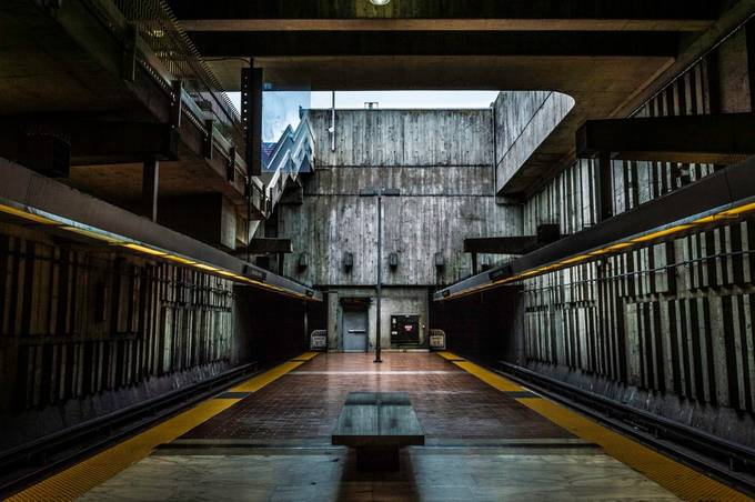 BART Station by MikeVinceD - Diagonals And Composition Photo Contest