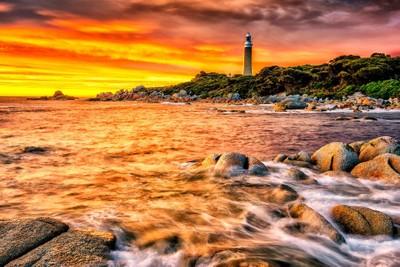 Eddystone Lighthouse at Sunrise