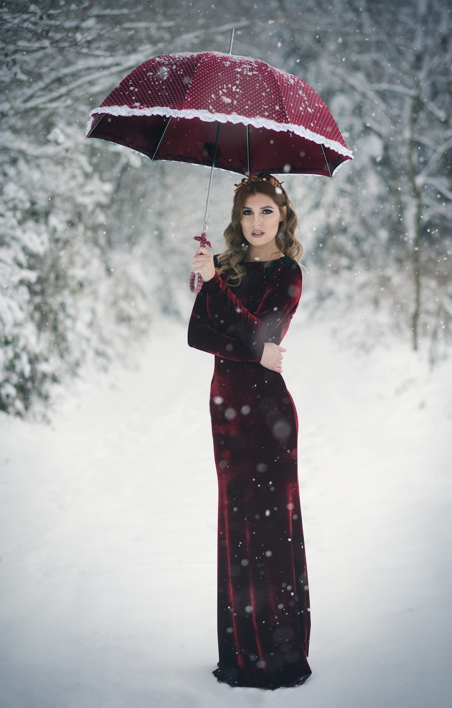 snow queen by sanjahitrec-leljak - Celebrating Fashion Photo Contest