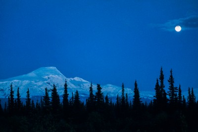 Moonrise Alaska