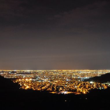 Nightview of Santiago de Chile