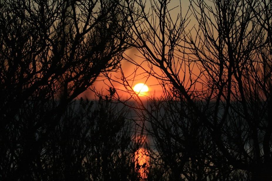 Sunset at Cobbs Pond on Cape Cod, MA