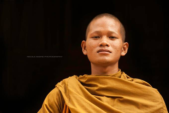 Buddhist Monk in Cambodia by NicoleAndrephotography - Street Portraits Photo Contest