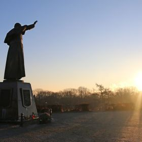 Looking like a special moment for Pope John Paul II in the early morning in Jasna Gora, Czestochowa, Poland, at Christmas time 2015. Also a lovel...