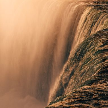 An up close and personal view of the power of the Niagara river.