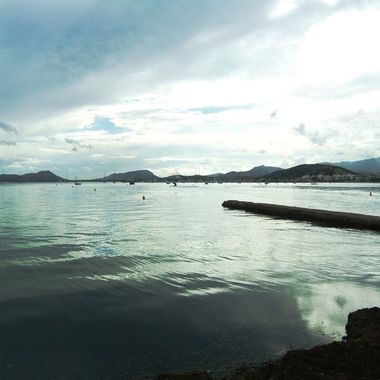 view of Puerto Pollenca Bay in Majorca
