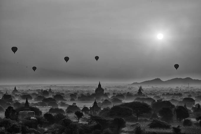 Bagan Sunrise  by nakul - Show Balloons Photo Contest